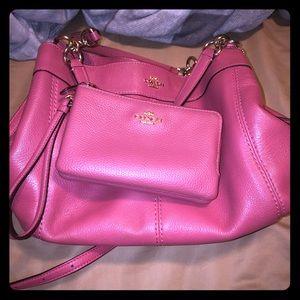 Coach purse and wristlet EUC
